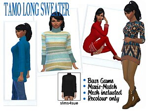 TAMOS LONG SWEATER sims 4 cc