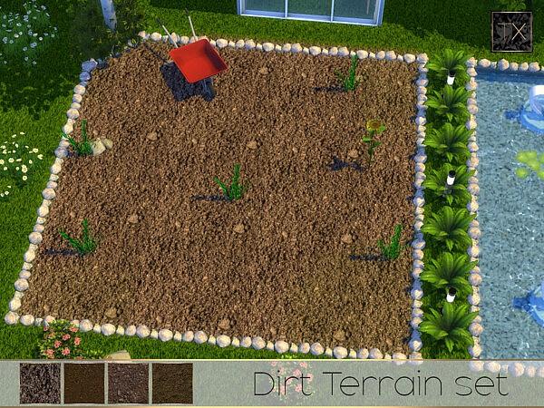 TX Dirt Terrain Set sims 4 cc