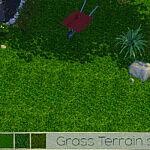 TX Grass Terrain Set sims 4 cc