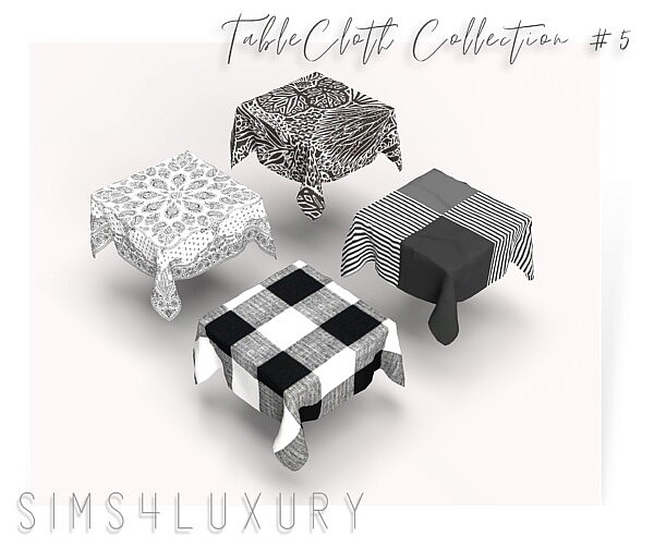 Table Cloth Collection 5 sims 4 cc
