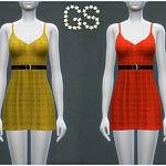 Tartan chic dress sims 4 cc