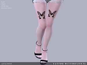 Tattoo Butterflies n3 sims 4 cc