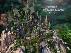 Temple The Light LLama sims 4 cc