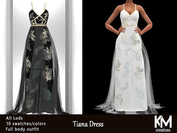 Tiana Dress sims 4 cc