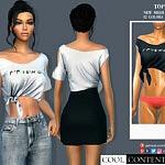 Tied Shirt sims 4 cc