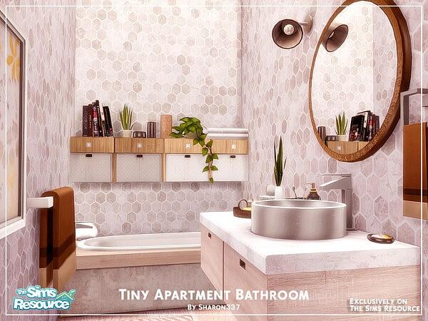 Tiny Apartment Bathroom sims 4 cc