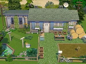 Tiny Little Farm House sims 4 cc