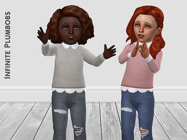 Toddler Collared Jumper sims 4 cc