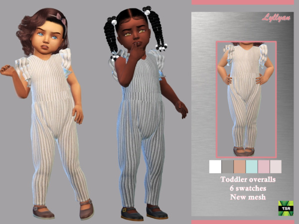 Toddler overalls Dalila sims 4 cc