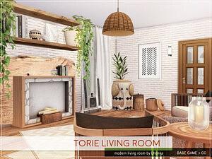Torie Living Room sims 4 cc