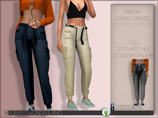Trenja Cargo Pants sims 4 cc1