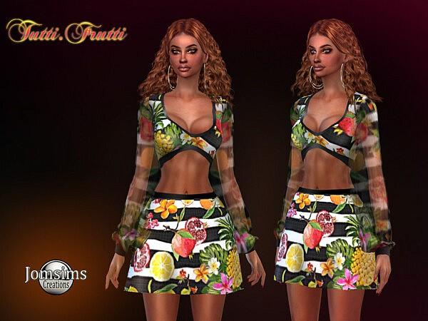 Tutti frutti dress sims 4 cc