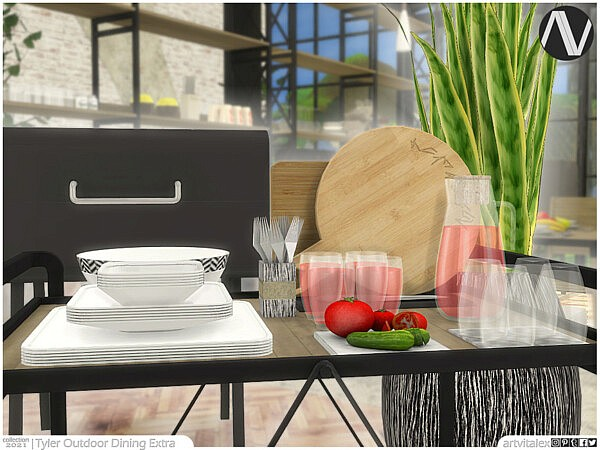 Tyler Outdoor Dining Extra sims 4 cc
