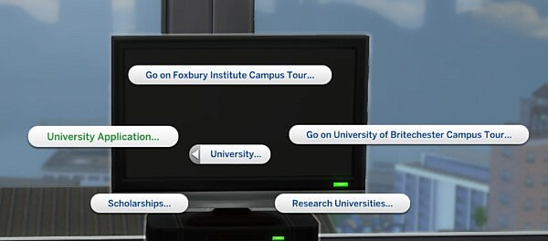 University Application Overhaul sims 4 cc