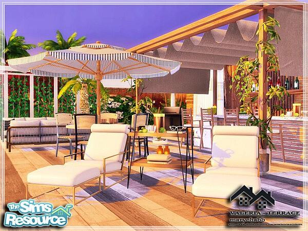 VALERIA Terrace sims 4 cc