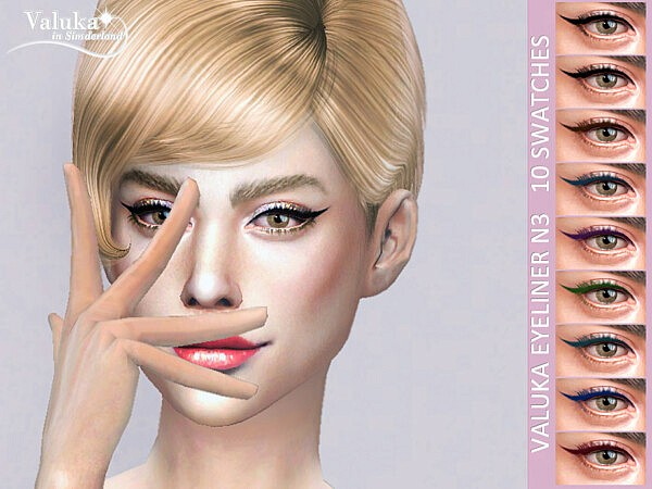 Valuka eyeliner N3 sims 4 cc