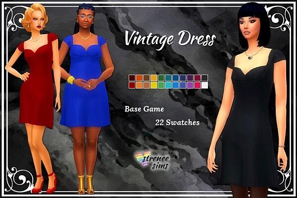 Vintage Dress sims 4cc