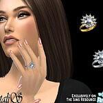 Vintage inspired diamond ring sims 4 cc