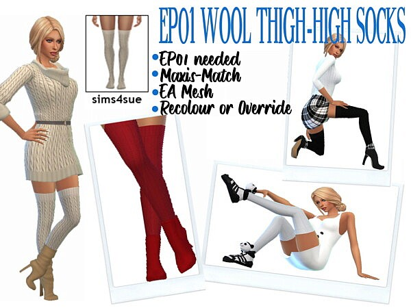 Wool Thigh Highs Socks from Sims 4 Sue