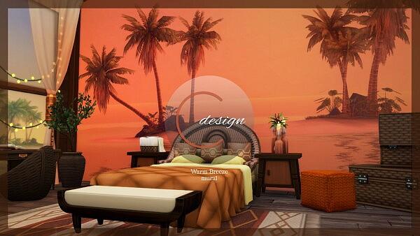 Warm Breeze Mural sims 4 cc