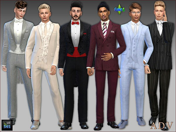 Wedding outfits for grooms sims 4 cc