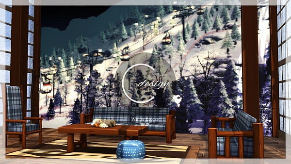 Winter Breeze Mural sims4 cc