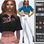 Womens long sleeve t shirt with sunglasses sims 4 cc