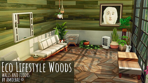 Wood Walls and Floors sims 4 cc