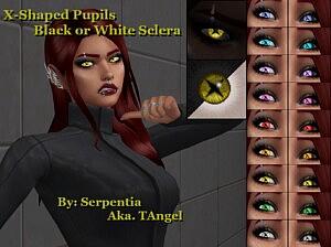 X Shaped Pupils sims 4 cc