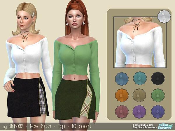 Ylenia top sims 4 cc