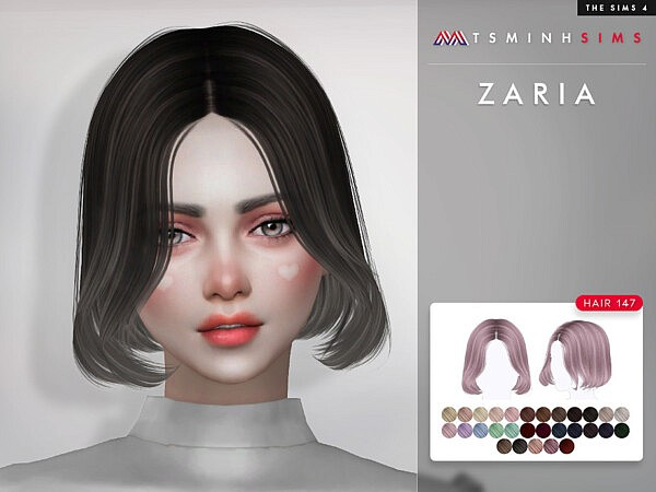 Zaria Hair 147 by TsminhSims from TSR