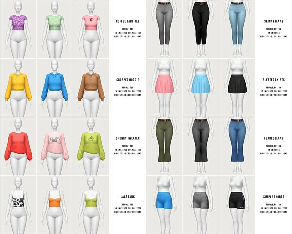 wardrobe essentials pack sims 4 cc