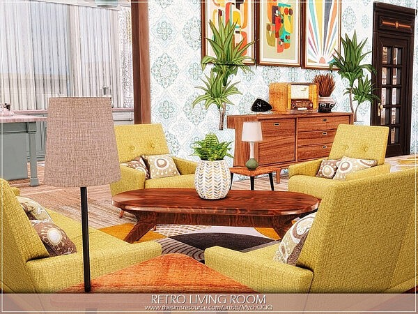 Retro Living Room by MychQQQ from TSR