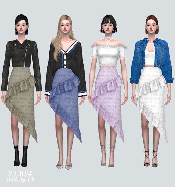 SF Midi Skirt from SIMS4 Marigold