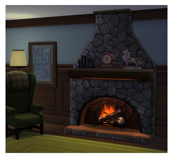 The Warm n Toasty Fireplace by Menaceman44 from Mod The Sims