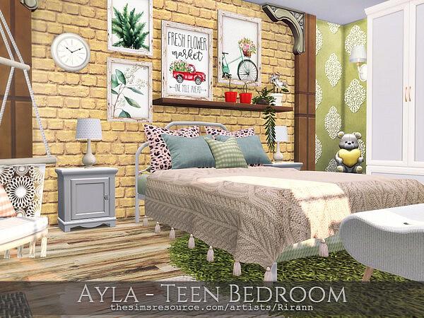 Ayla Teen Bedroom by Rirann from TSR