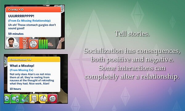 Storytelling Socials v1.0 by lazarusinashes from Mod The Sims