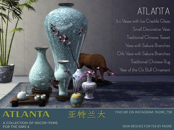 Atlanta Set of Decor Items by padre from TSR