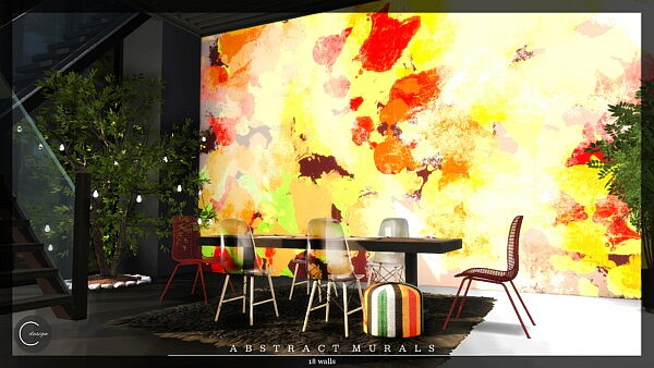 Abstract Murals sims 4 cc