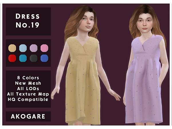 Akogare Dress No.19 sims 4 cc