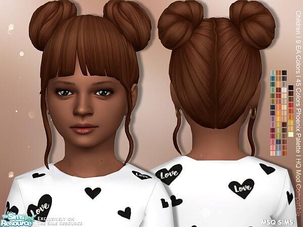 Alena Hair Children sims 4 cc