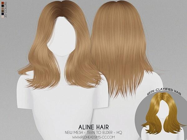 Aline Hair sims 4 cc