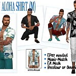 Aloha Shirt sims 4 cc