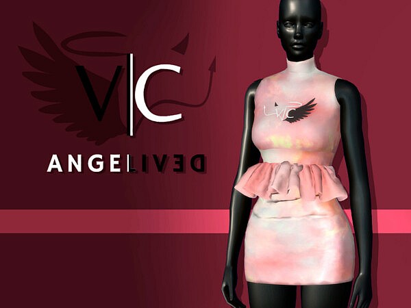 AngeliveD Collection   Dress I by Viy Sims from TSR