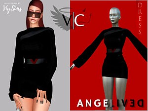 AngeliveD Collection Dress VIII sims 4 cc