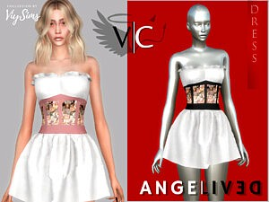 AngeliveD Collection Dress XII sims 4 cc