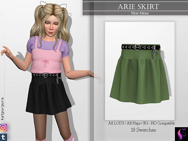 Arie Skirt sims 4 cc