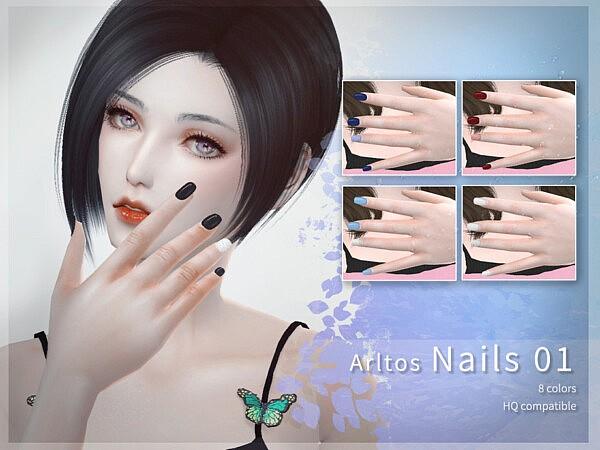 Arltos Nails 01 sims 4 cc