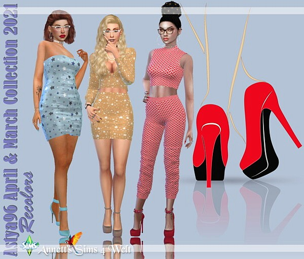 Astya96 April and March Collection 2021 sims 4 cc