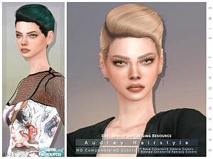Audrey Hair sims 4 cc